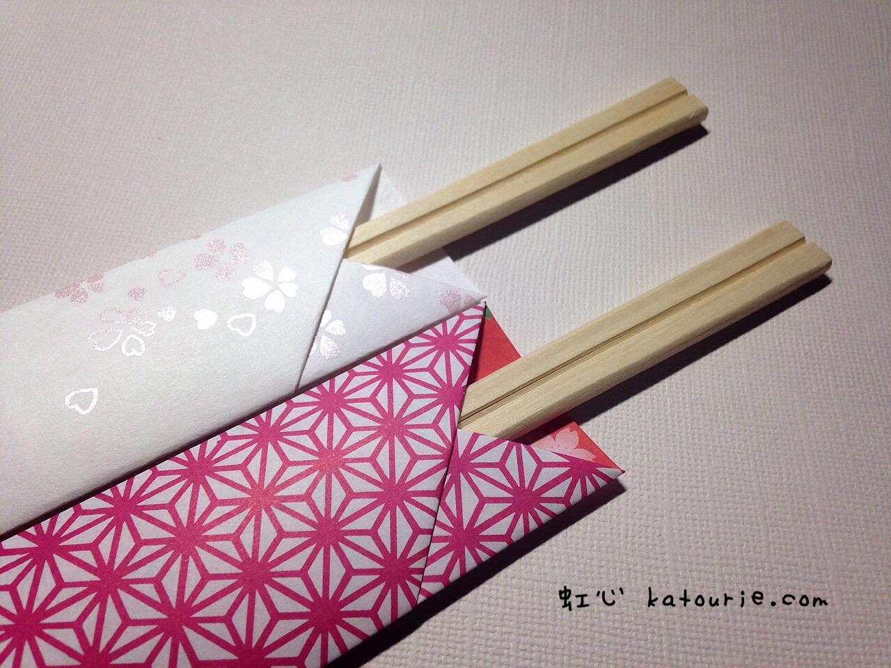 すべての折り紙 箸入れ 作り方 折り紙 : まだサンプル段階ですが・・・